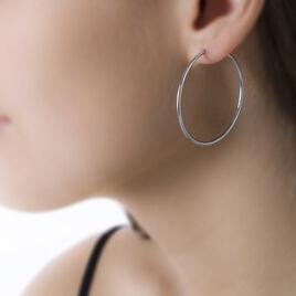 Créoles Valencina Flexibles Rondes Or Blanc - Boucles d'oreilles créoles Femme | Histoire d'Or