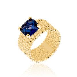 Bague Chachou Plaque Or Jaune Oxyde De Zirconium - Bagues avec pierre Femme | Histoire d'Or