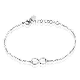 Bracelet Helsa Argent Blanc - Bracelets Infini Femme | Histoire d'Or