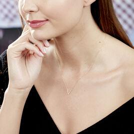 Collier Celene Or Jaune Oxyde De Zirconium - Bijoux Femme   Histoire d'Or