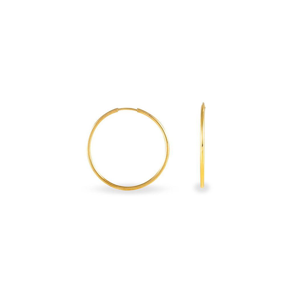 Créoles Dominae Flexible Or Jaune - Boucles d'oreilles créoles Femme   Histoire d'Or