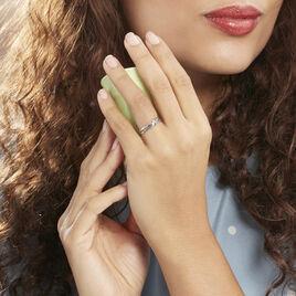 Bague Marina Or Blanc Diamant - Bagues avec pierre Femme   Histoire d'Or