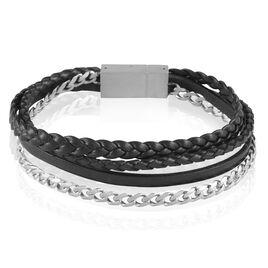 Bracelet Erhan Acier Blanc - Bracelets fantaisie Homme | Histoire d'Or