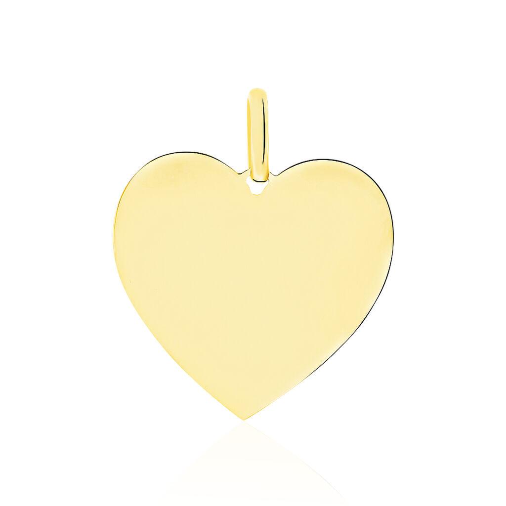 Pendentif Sirona Coeur Gravable Or Jaune - Pendentifs Coeur Femme   Histoire d'Or