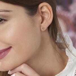 Boucles D'oreilles Puces Yoanna Plaque Or Jaune - Boucles d'oreilles fantaisie Femme | Histoire d'Or