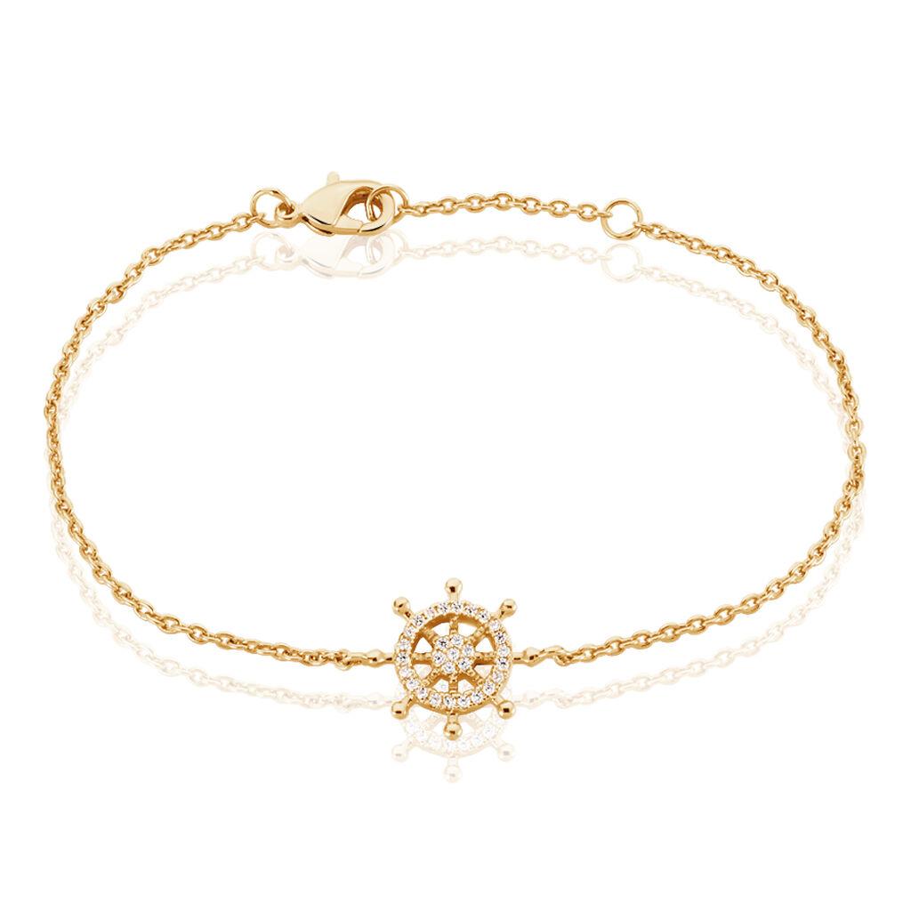Bracelet Flavia Plaque Or Jaune Oxyde De Zirconium - Bracelets fantaisie Femme | Histoire d'Or