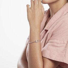 Bracelet Jonc Ulrica Argent Rhodié Oxyde De Zirconium - Bracelets joncs Femme   Histoire d'Or