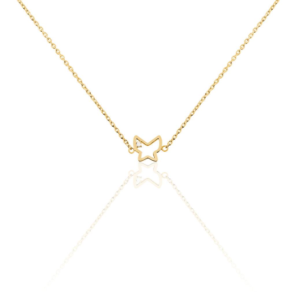 Collier Khatimaae Plaque Or Jaune Diamant - Colliers Papillon Femme | Histoire d'Or