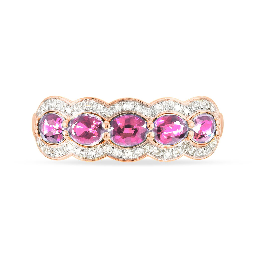 Bague Margaux Or Rose Tourmaline Et Diamant - Bagues avec pierre Femme | Histoire d'Or