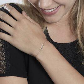 Bracelet Frankiska Or Jaune Oxyde De Zirconium - Bracelets Infini Femme | Histoire d'Or