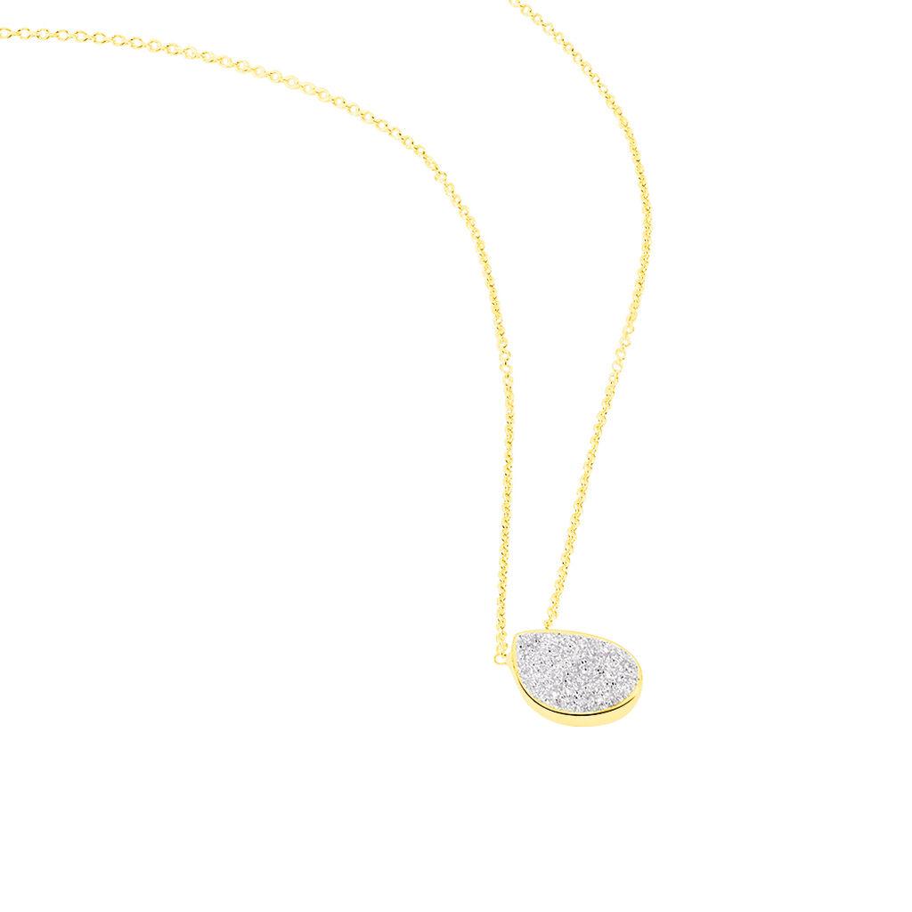 Collier Or Jaune Anitta Motif Goutte - Bijoux Femme   Histoire d'Or