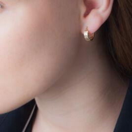 Créoles Ugenie Grec Or Jaune - Boucles d'oreilles créoles Femme   Histoire d'Or
