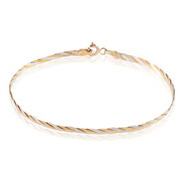 Bracelet Carlo Maille Marine Ronde Or Bicolore - Bracelets chaîne Femme   Histoire d'Or