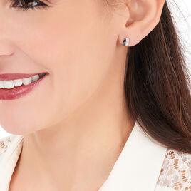 Boucles D'oreilles Puces Urania Or Blanc Diamant - Clous d'oreilles Femme | Histoire d'Or