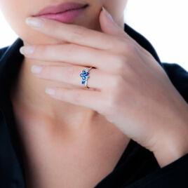 Bague Bouquet Or Blanc Saphir Et Diamant - Bagues avec pierre Femme   Histoire d'Or
