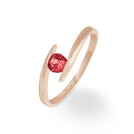 Bague Tiphaine Or Rose Rubis - Bagues avec pierre Femme | Histoire d'Or