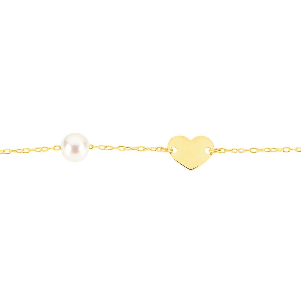 Bracelet Roselena Coeur Or Jaune Perle De Culture - Bracelets Coeur Enfant | Histoire d'Or
