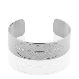 Bracelet Jonc Tia Acier Blanc - Bracelets Plume Femme | Histoire d'Or
