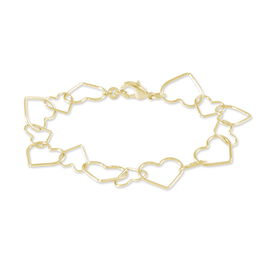 Bracelet Eloine Plaque Or Jaune - Bracelets Coeur Femme | Histoire d'Or