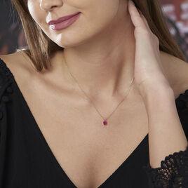 Collier Or Jaune Et Rubis 42cm - Bijoux Femme | Histoire d'Or