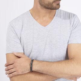 Bracelet Neo Acier Blanc - Bracelets fantaisie Homme   Histoire d'Or