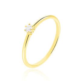 Bague Solitaire Samantha Or Jaune Diamant - Bagues solitaires Femme | Histoire d'Or