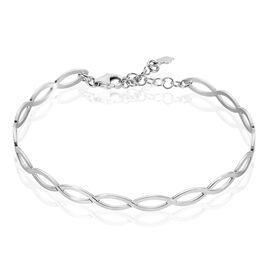Bracelet Jonc Vaguia Argent Blanc - Bracelets fantaisie Femme | Histoire d'Or