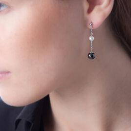Boucles D'oreilles Pendantes Lucia Cera Argent Perle De Culture - Boucles d'oreilles fantaisie Femme | Histoire d'Or
