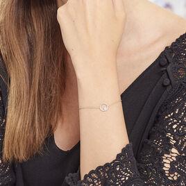 Bracelet Lila Plaque Or Jaune Oxyde De Zirconium - Bracelets fantaisie Femme   Histoire d'Or