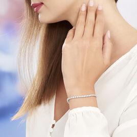 Bracelet Elios Argent Blanc Oxyde De Zirconium - Bijoux Femme | Histoire d'Or