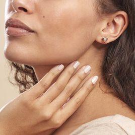 Boucles D'oreilles Puces Liana Or Rose Diamant - Boucles d'Oreilles Coeur Femme | Histoire d'Or