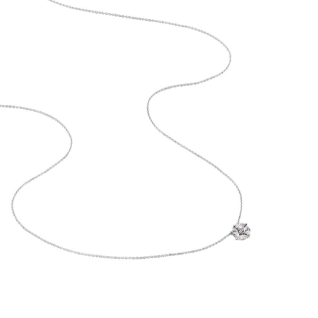 Collier Milane Or Blanc Oxyde De Zirconium - Colliers Etoile Femme | Histoire d'Or