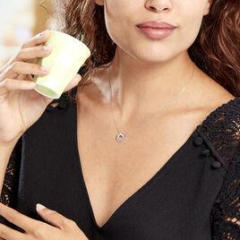Collier Margette Or Blanc Diamant - Bijoux Femme   Histoire d'Or