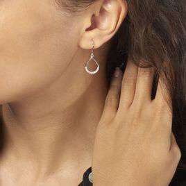 Boucles D'oreilles Pendantes Nicole Argent Blanc Oxyde De Zirconium - Boucles d'oreilles fantaisie Femme   Histoire d'Or