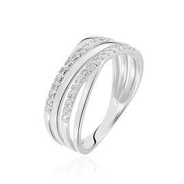 Bague Marinetta Or Blanc Diamant - Bagues avec pierre Femme   Histoire d'Or