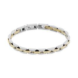 Bracelet Tom Acier Bicolore - Bijoux Homme   Histoire d'Or