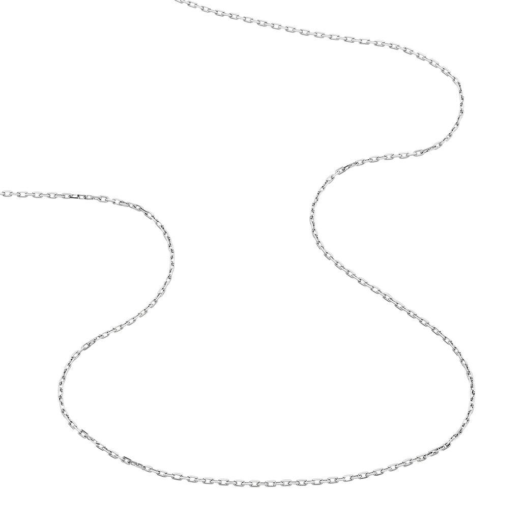 Chaîne Igoa Maille Forçat Diamantee Or Blanc - Chaines Unisexe   Histoire d'Or