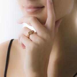 Bague Ana-lou Plaque Or Jaune Oxyde De Zirconium - Bagues avec pierre Femme | Histoire d'Or