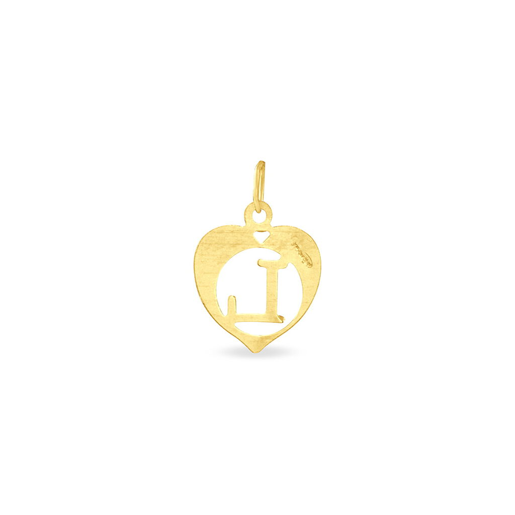 Pendentif Eudocie Coeur Lettre Or Jaune - Pendentifs Coeur Femme | Histoire d'Or