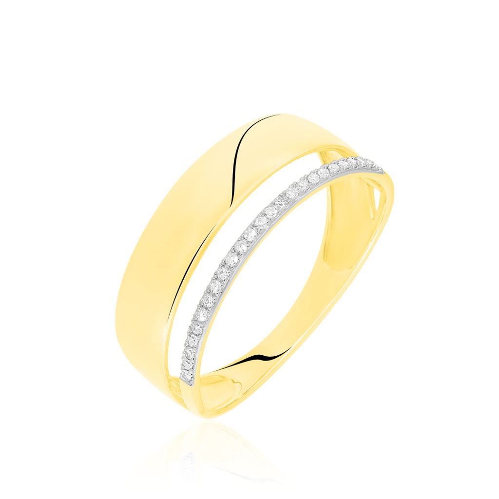 Bague Danye Or Jaune Diamant