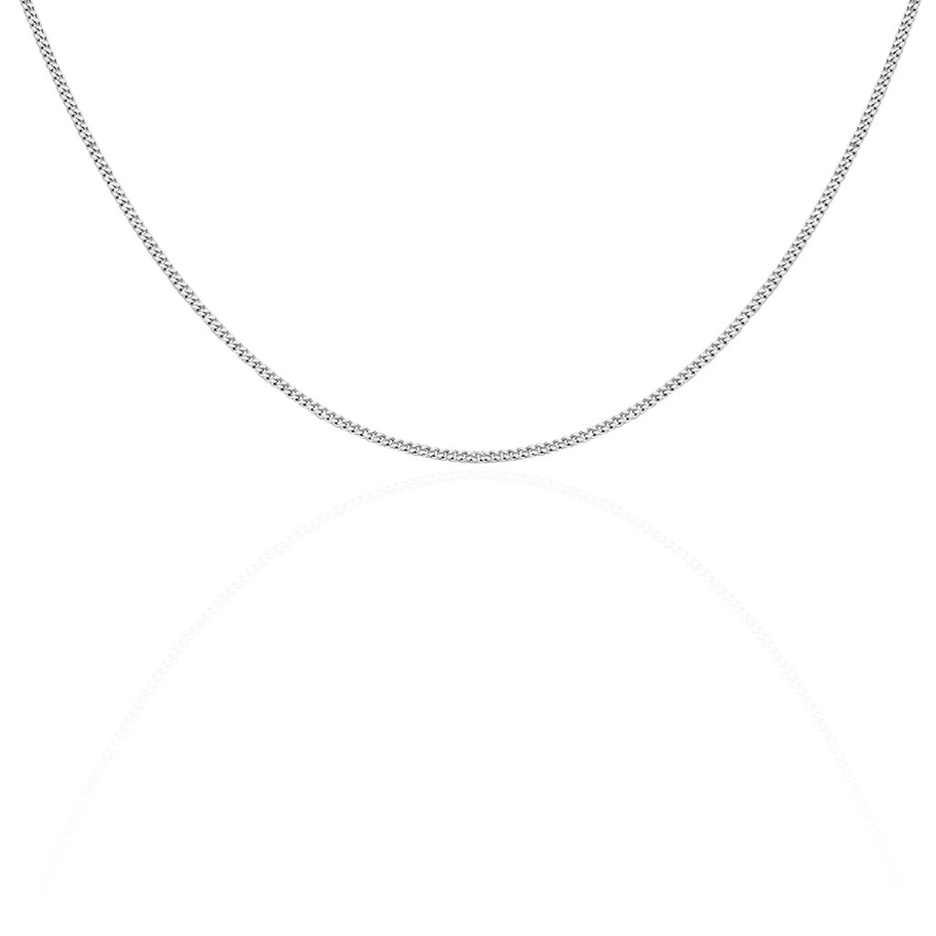 Chaîne Clementine Maille Gourmette Argent Blanc - Chaines Femme | Histoire d'Or