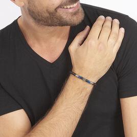 Bracelet Hugues Acier Blanc Agate Et Pierre De Synthese - Bracelets fantaisie Homme | Histoire d'Or