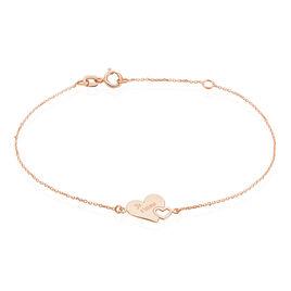 Bracelet Edosa Or Rose - Bracelets Coeur Femme | Histoire d'Or