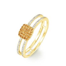 Bague Aude Or Jaune Saphir Et Diamant - Bagues avec pierre Femme | Histoire d'Or