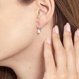 Boucles D'oreilles Pendantes Feyza Argent Blanc Oxyde De Zirconium - Boucles d'oreilles fantaisie Femme | Histoire d'Or
