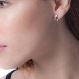 Boucles D'oreilles Puces Alric Or Blanc Diamant - Clous d'oreilles Femme | Histoire d'Or
