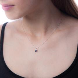 Collier Marie Or Blanc Saphir Diamant - Bijoux Femme | Histoire d'Or