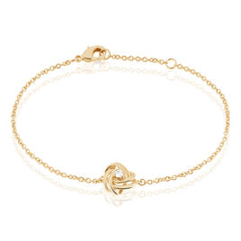 Bracelet Jonc Iwaki Plaque Or Jaune Oxyde De Zirconium - Bracelets fantaisie Femme | Histoire d'Or