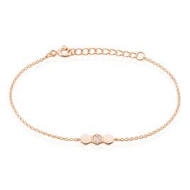 Bracelet Onaissa Argent Rose Oxyde De Zirconium - Bracelets fantaisie Femme | Histoire d'Or