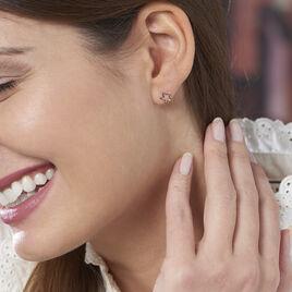 Boucles D'oreilles Puces Alphonsine Etoile De Mer Or Rose - Boucles d'Oreilles Etoile Femme | Histoire d'Or